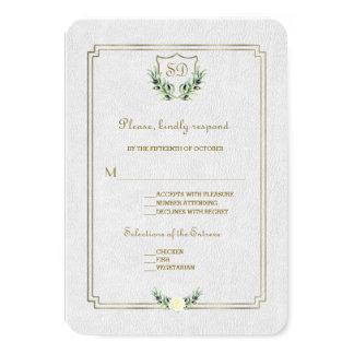 Carte Verdure luxuriante de crête royale chic d'or