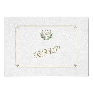 Carte Verdure luxuriante de crête royale d'or épousant