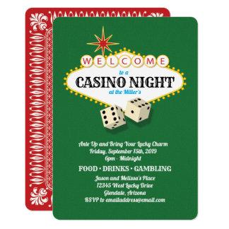 Carte Vert de nuit de casino de chapiteau de Las Vegas