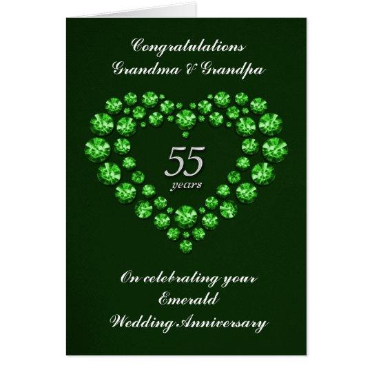Carte invitation 55 ans de mariage