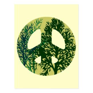 Carte verte d'art de blanc de signe de paix