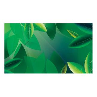 Carte verte de société d'assurance-vie carte de visite standard