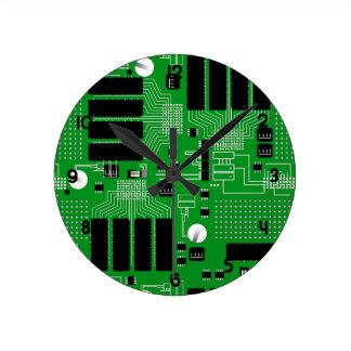 Carte verte horloge ronde
