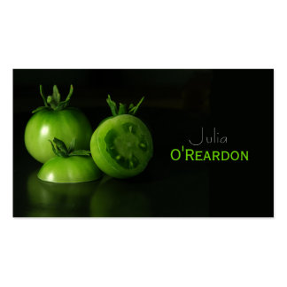 Carte verte noire de restauration de chef de tomat carte de visite standard