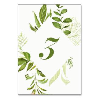 Carte verte sauvage du numéro 3 de Tableau de