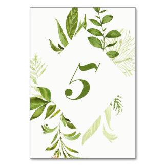 Carte verte sauvage du numéro 5 de Tableau de