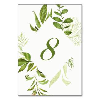 Carte verte sauvage du numéro 8 de Tableau de