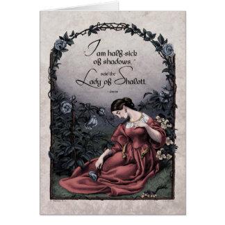 Carte victorienne d art de Tennyson Madame de Sha