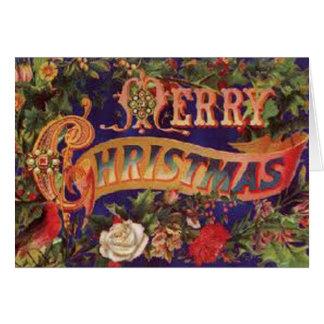 Carte victorienne de Joyeux Noël
