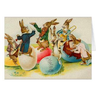 Carte victorienne de lapin de Pâques