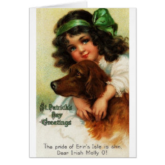 Carte victorienne du jour de St Patrick de poseur