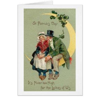 Carte victorienne du jour de vieux St Patrick de