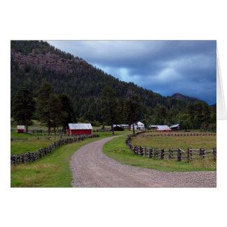 Carte vierge avec la ferme dans le Colorado