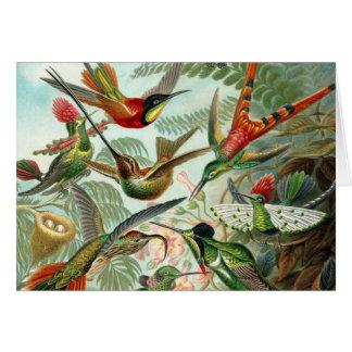Carte vierge colorée de note d'art vintage