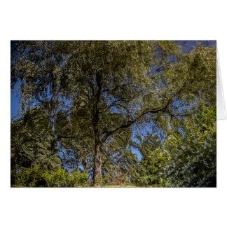 Carte vierge d'arbre surréaliste