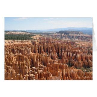 Carte vierge de canyon de Bryce