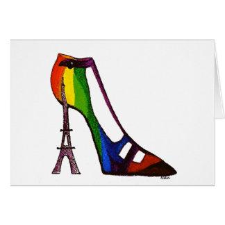 Carte vierge de chaussure de Tour Eiffel