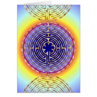 Carte vierge de chemins de lumière de perle de