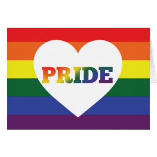 Carte vierge de fierté de l'arc-en-ciel LGBT