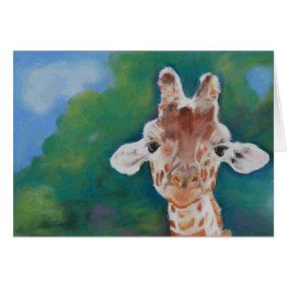 Carte vierge de girafe de bébé