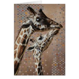 Carte vierge de girafe par Andrew Denman