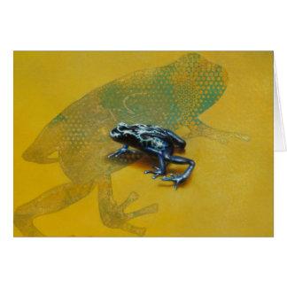 Carte vierge de grenouille de poison de dard par