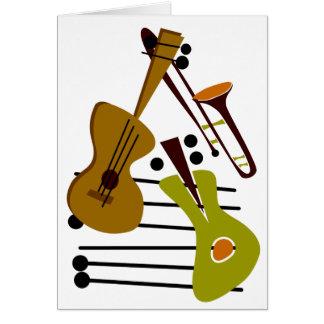 Carte vierge de jazz