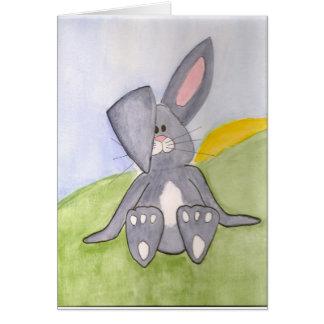 Carte vierge de lapin ensoleillé