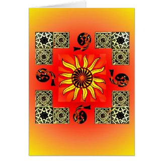 Carte vierge de mandala de Sun de Celtic