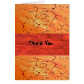 Carte vierge de note de Merci