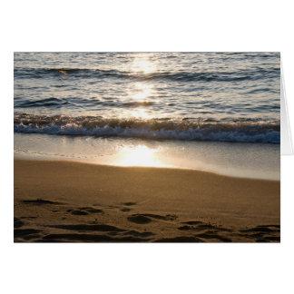 Carte vierge de photo de vagues