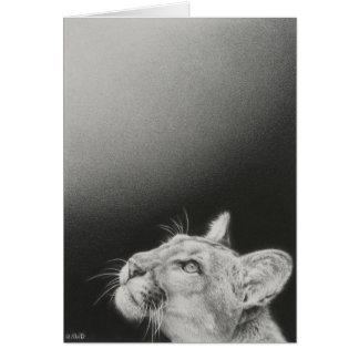Carte vierge de puma par Andrew Denman