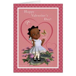 Carte vierge de Saint-Valentin de fille de