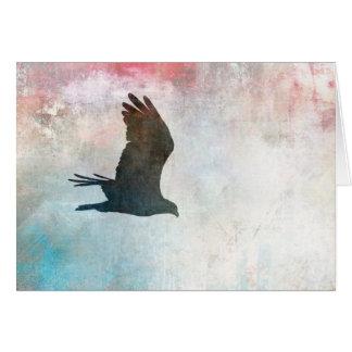 Carte vierge de silhouette de balbuzard
