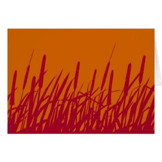 Carte vierge de silhouette de Cattails