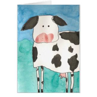 Carte vierge de vache