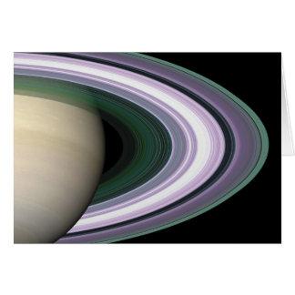 Carte vierge des anneaux de Saturn de photo de