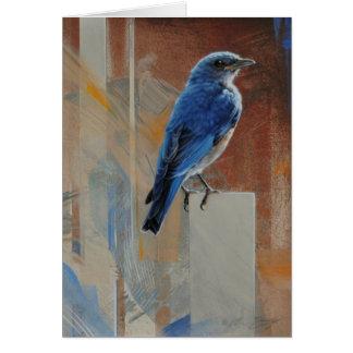 Carte vierge d'oiseau bleu par Andrew Denman