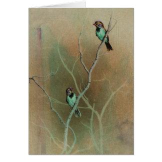Carte vierge d'oiseau par Andrew Denman