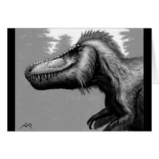 Carte vierge faite varier le pas de tyrannosaure