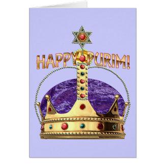 Carte vierge heureuse de Purim