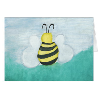 Carte vierge horizontale d'abeille