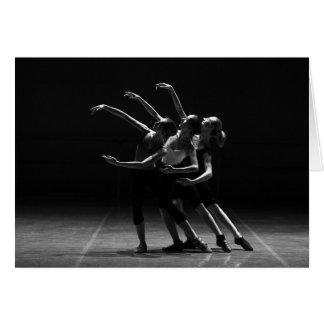 Carte vierge noire et blanche de beau ballet