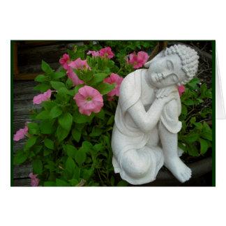 Carte vierge paisible de Bouddha