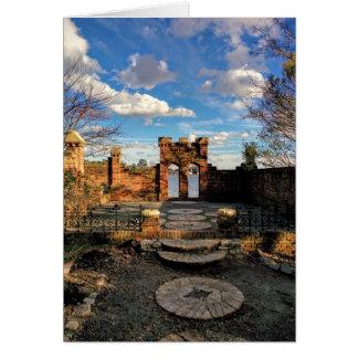 Carte vierge portaile de jardin