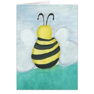 Carte vierge verticale d'abeille