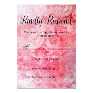 Carte Vieux rose rose romantique rustique