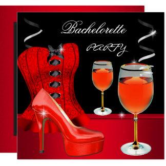 Carte Vin rouge de noir de corset de chaussure de partie
