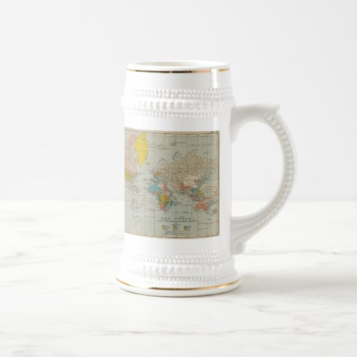 Carte vintage 1910 du monde mug
