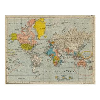 Carte vintage 1910 V2 du monde